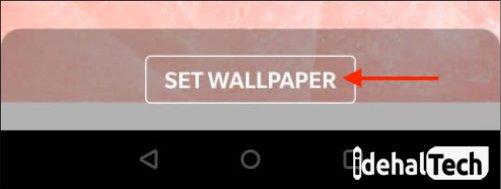 گزینه set wallpaper را بزنید