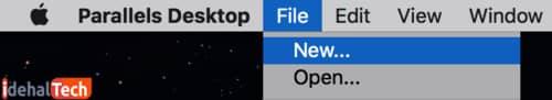 از طریق گزینه «File» روی گزینه «New» کلیک کنید 2