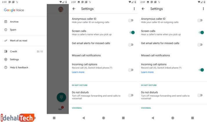 اپلیکیشن ضبط مکالمه Google Voice