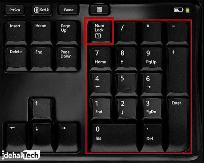 کلیدهای میانبر روی صفحه کلید برای ماشین حساب