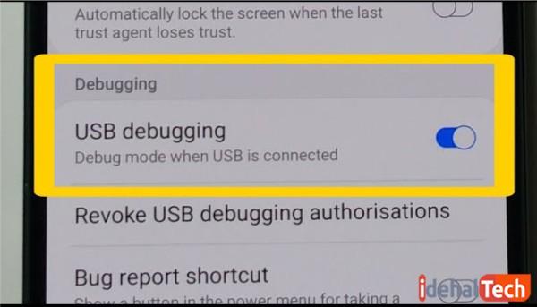 Debugging USB را فعال کنید