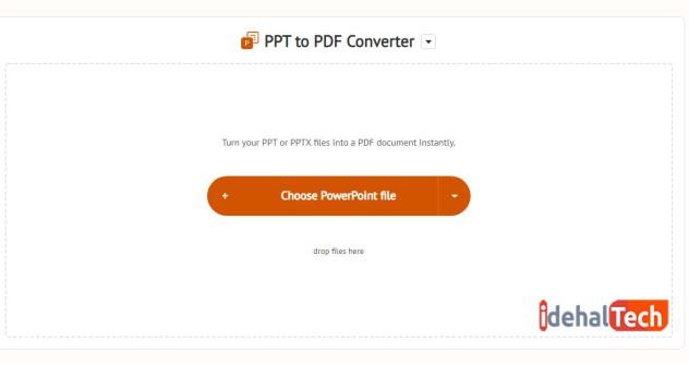 وب سایت آنلاین freepdfconvert را باز کنید