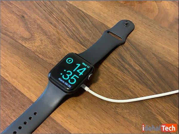 اتصال بین اپل واچ و شارژر را بررسی کنید