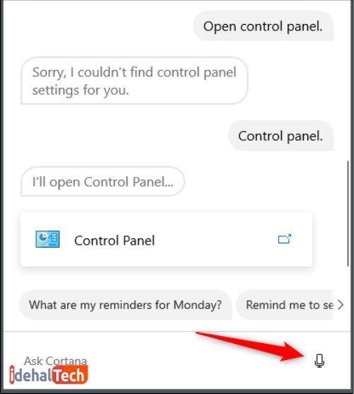 """دستور """"Control Panel"""""""