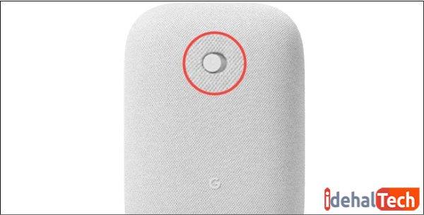 در Google Nest Audio سوئیچ در پشت قرار دارد.