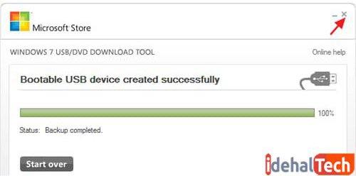 روی گزینه «Device Erase USB» کلیک کنید