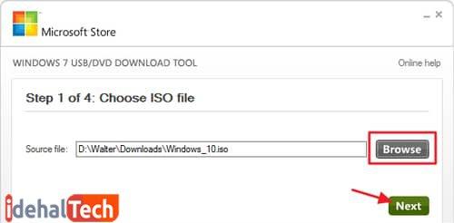 انتقال فایل های iso به فلش مموری