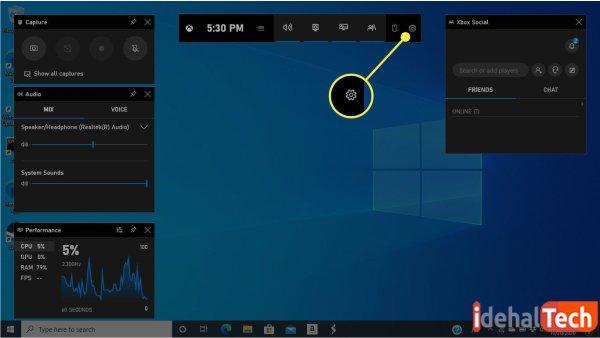 اسکرین شات در ویندوز 10 با game bar