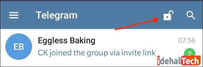 قفل دستی چت های تلگرام