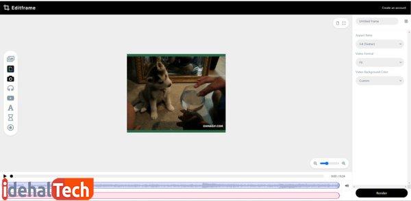 اضافه کردن موسیقی به گیف با استفاده از Editframe