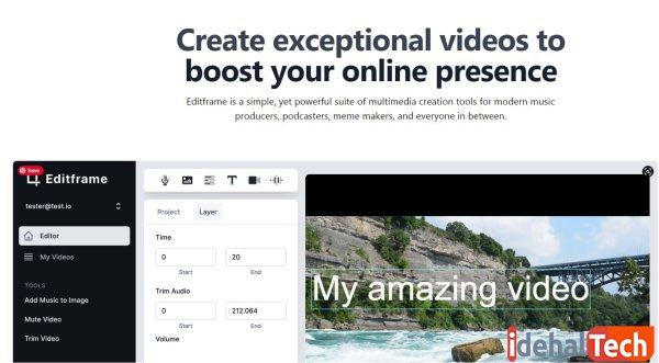ابزار آنلاین Editframe